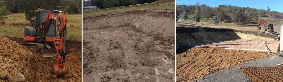 stanton excavations  land excavation in progress