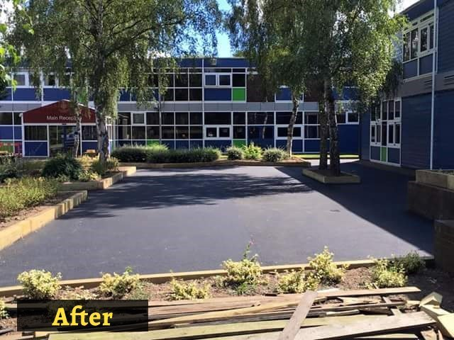 after laying tarmacadam