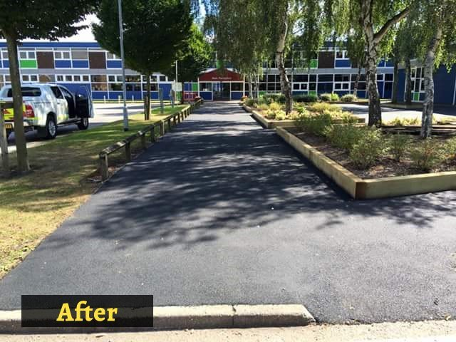 after asphalting