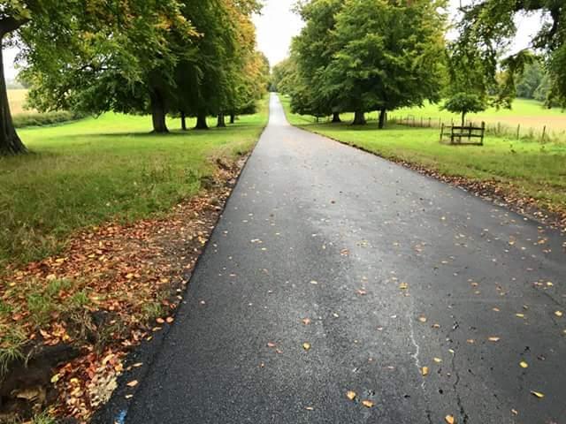road asphalted