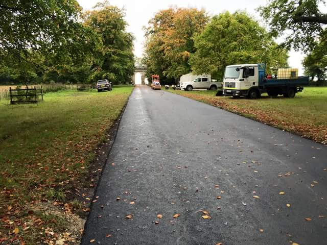 newly installed tarmacadam