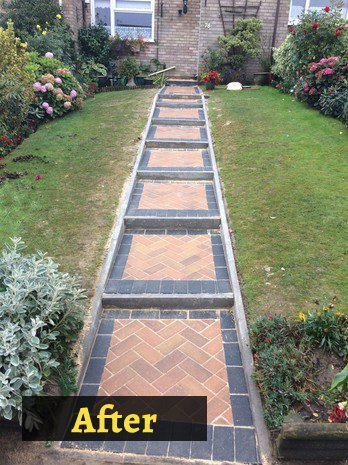 after garden area paving