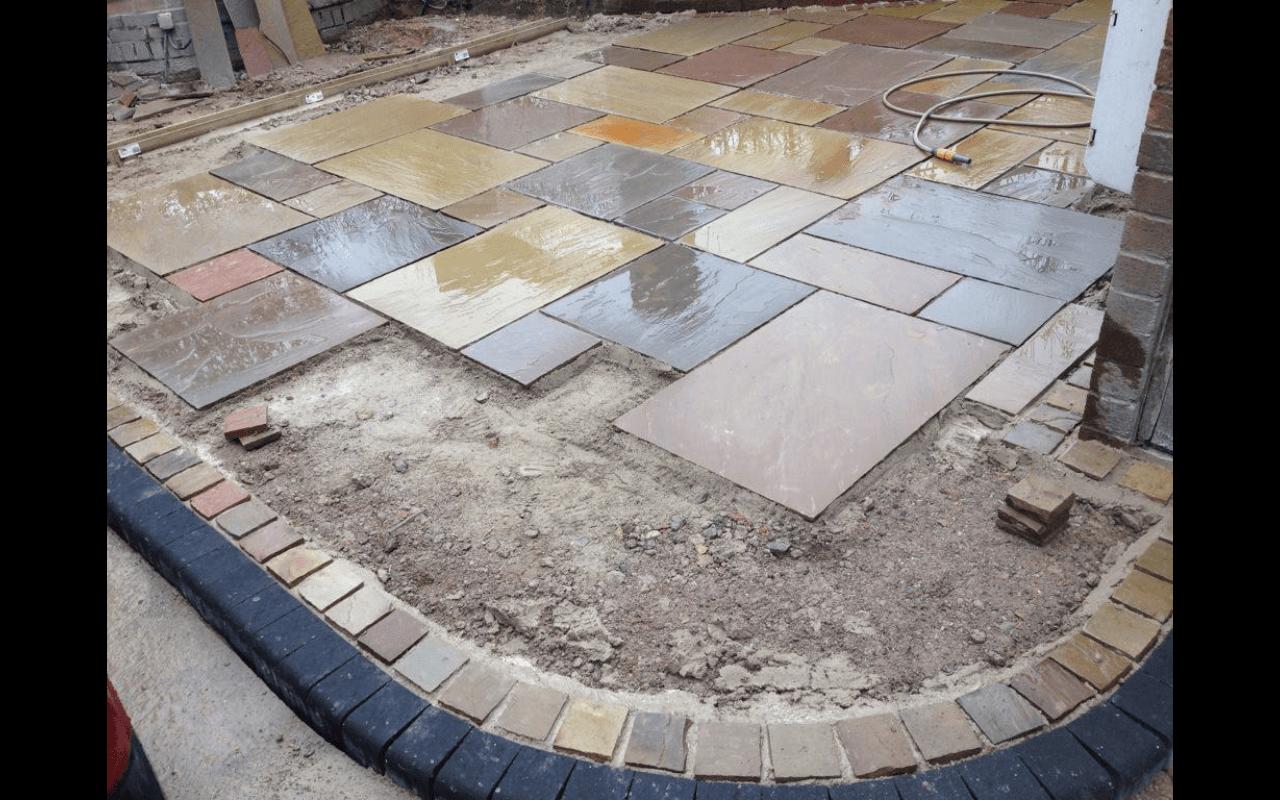 damaged stone paving
