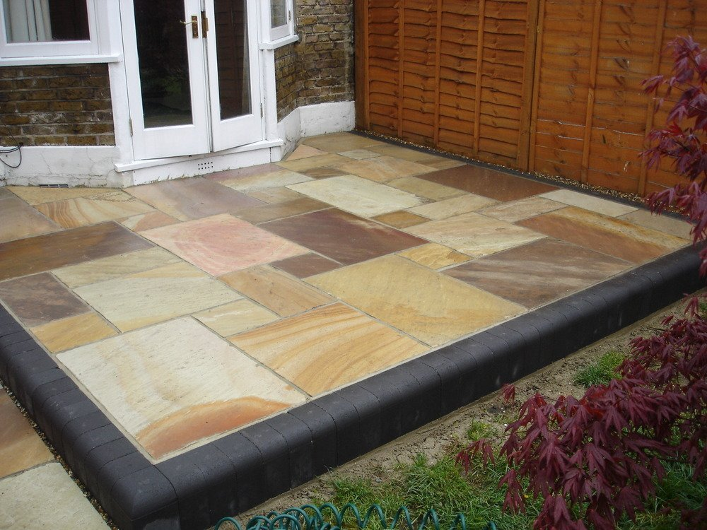 paving outside the door
