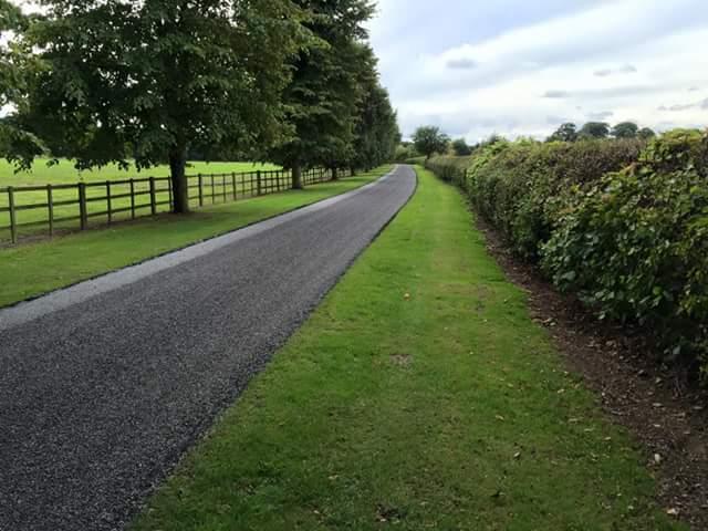 lawn beside resurfaced area