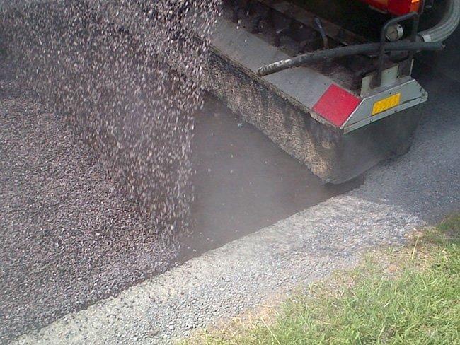 road after asphalting