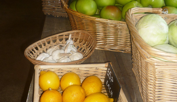 Organic fruit in the Farmshop