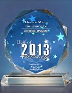 Award presented to Horace Mann for their home insurance services in Anchorake, AK