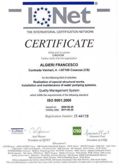 Certificazione ISO 9001:2000