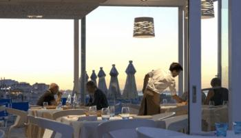 ristorante Paradise, dehor, tavoli, mare