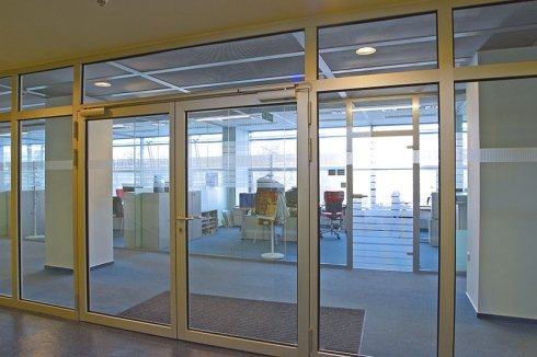 Fireproof glass large door