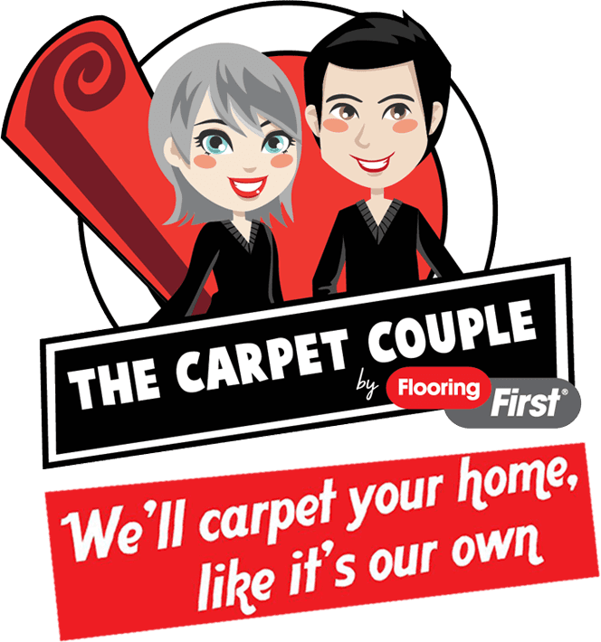 The carpet couple logo