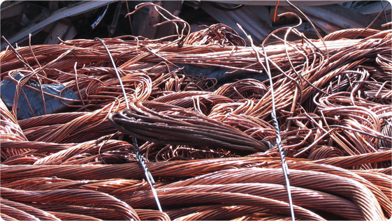 Pile of copper wire