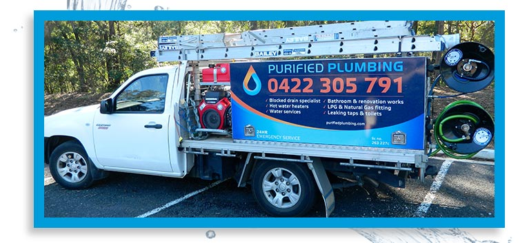purified plumbing business truck