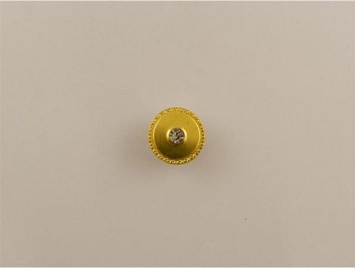 Bottone snodato con strass oro