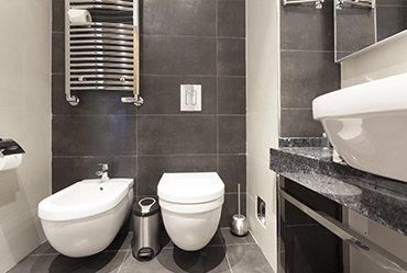 interiors of the bathroom