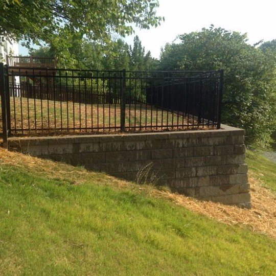 Retaining wall construction in St. Peters, MO