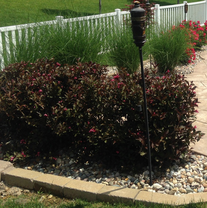 Backyard landscaping design in St. Charles MO