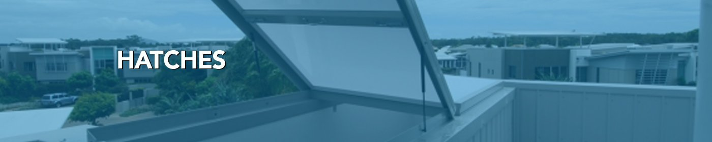 Skylight hatches with blue overlay