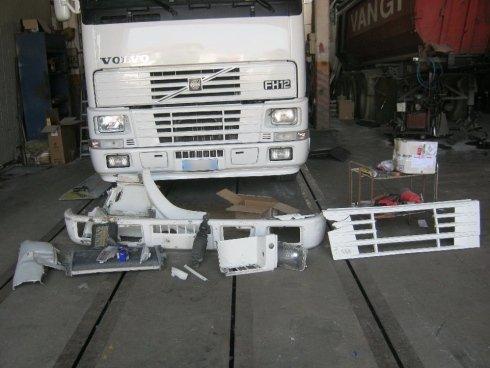 Camion dopo la sostituzione dei pezzi