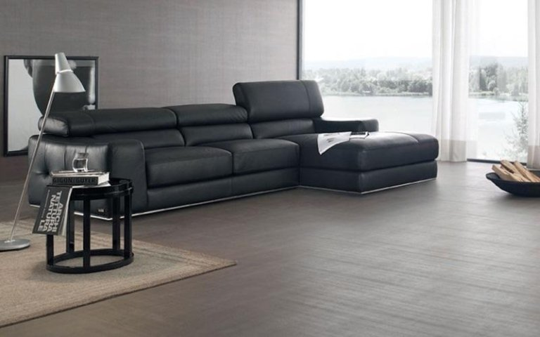 divano pelle nera