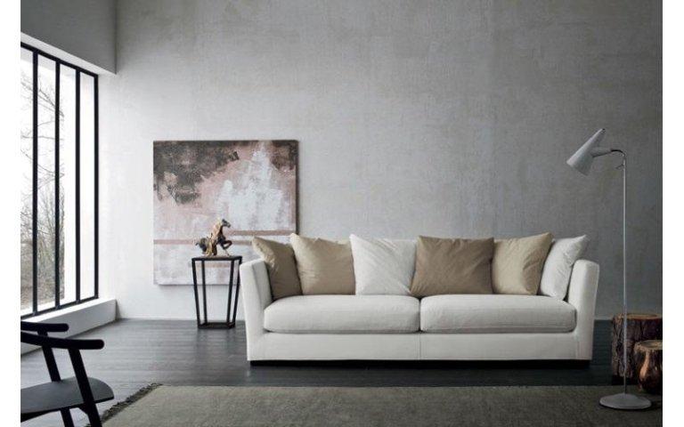 divano tessuto bianco