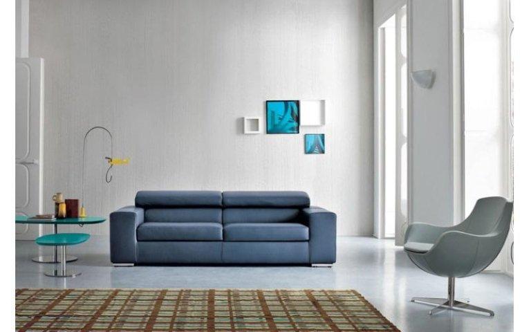 divano pelle blu