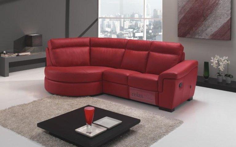 divano pelle rossa