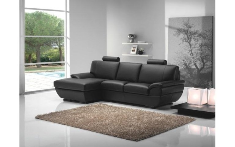 divano nero pelle