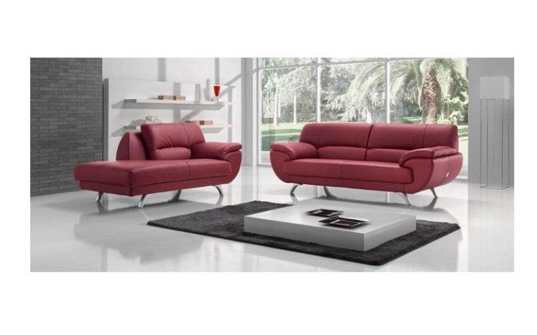 divani pelle rossa