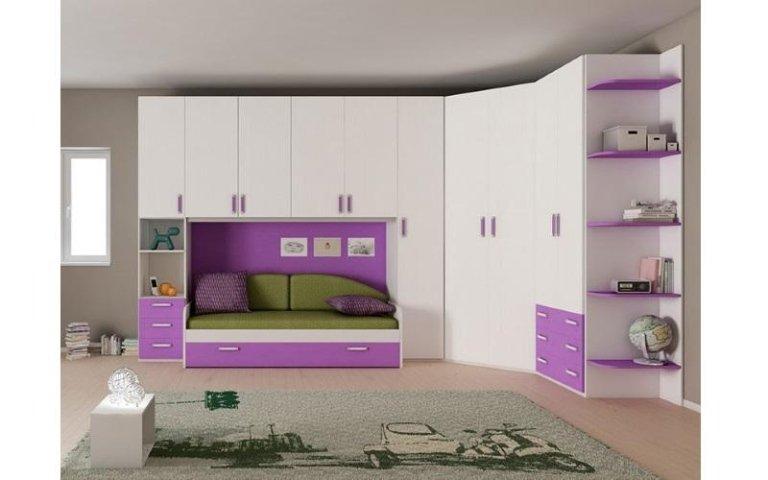 cameretta bianca viola