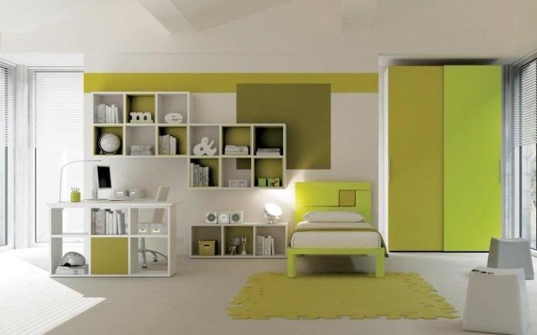 camera ragazzi verde