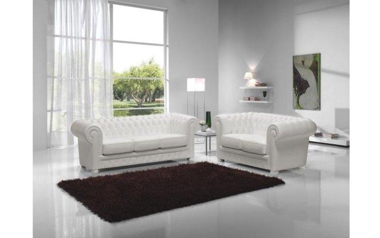 divani pelle bianca