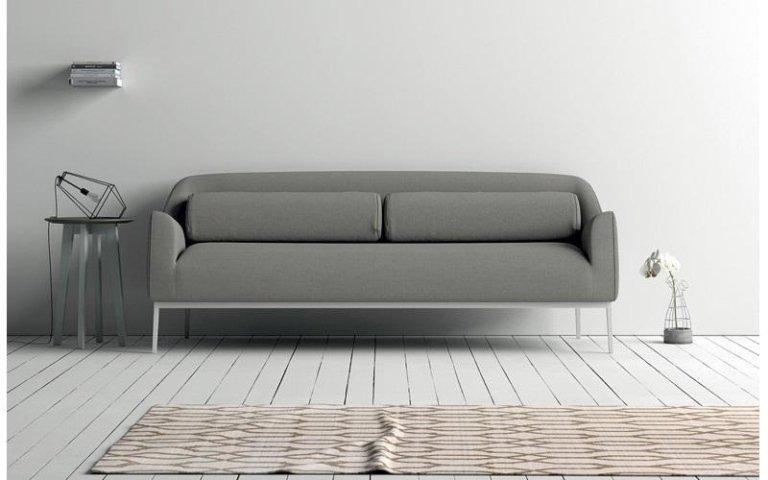 divano grigio tessuto