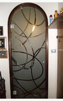 porta ad arco in vetro
