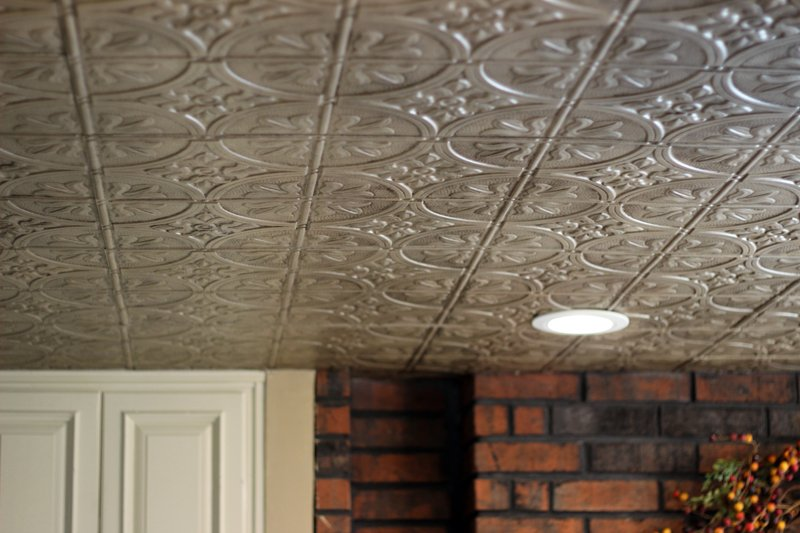 ceilings, copper tile, ceiling overlay, faux finish