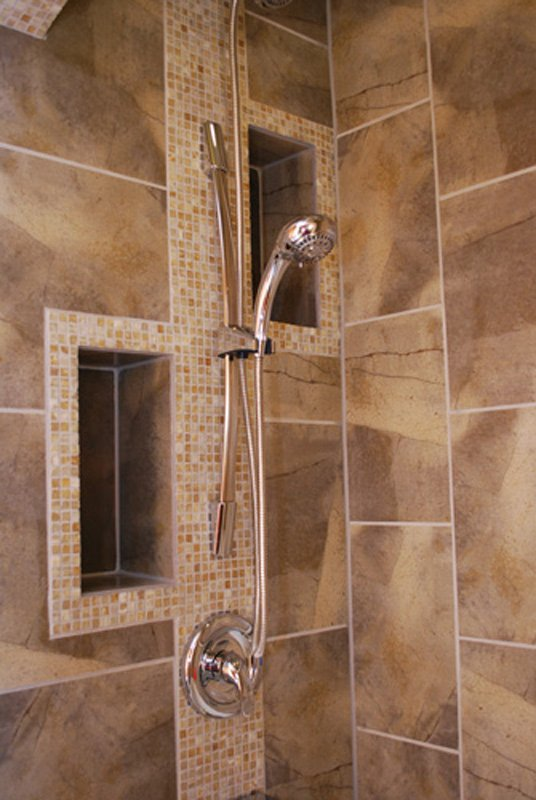 bathroom remodel, tile shower, shower inserts