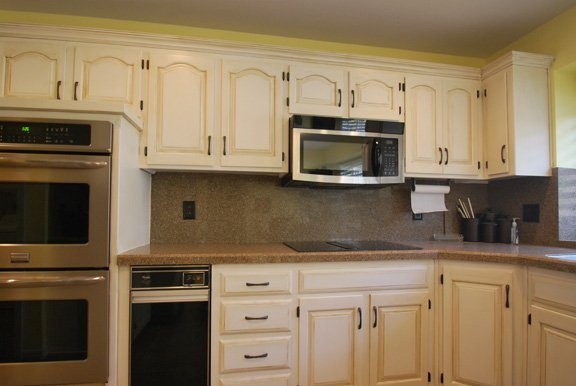 painted cabinets, glazed cabinets, cabinet refinshing