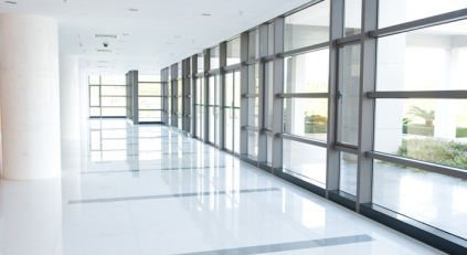 Commercial glass installation in Dunedin