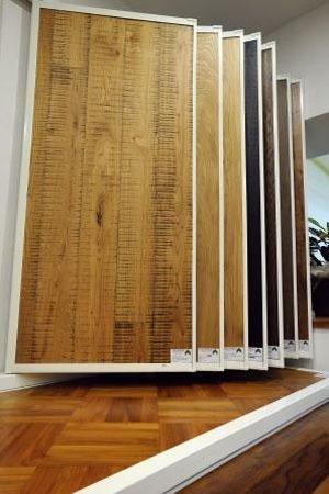 espositori di legno per pavimentazioni
