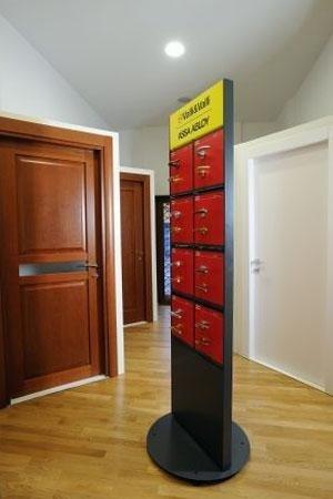porte e maniglie in esposizione