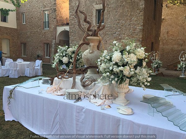 Allestimenti con i fiori in villa a Palermo