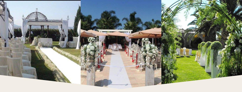 Allestimento floreale in un matrimonio a Palermo
