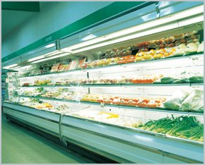 Commercial refrigeration in store.