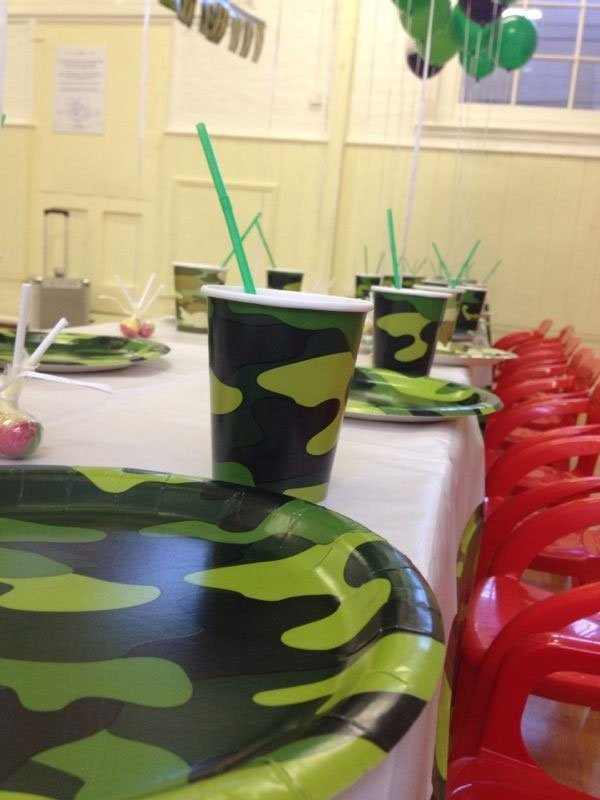 black and green cup