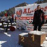 premiazione di una competizione sciistica sponsorizzata ALGOM