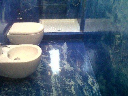 lavori in resina nel bagno