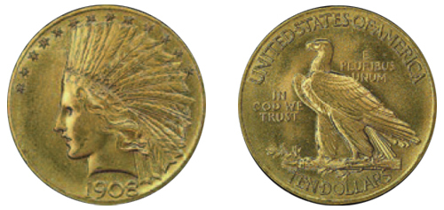 $10 Indian Gold Piece (1907-1933)