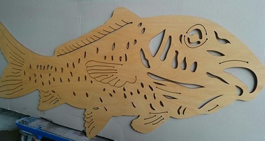 Fish cut by a custom design cutting company in Canberra