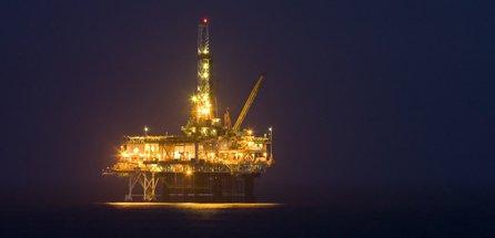 oil rigs in the sea